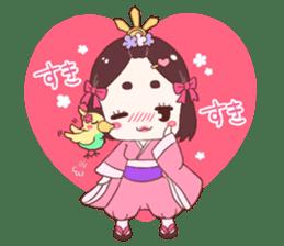 Okame and Parakeet sticker #601424