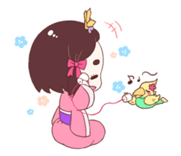 Okame and Parakeet sticker #601427