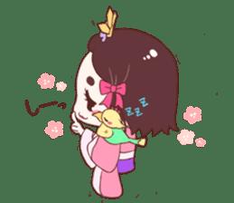 Okame and Parakeet sticker #601430
