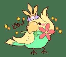 Okame and Parakeet sticker #601432