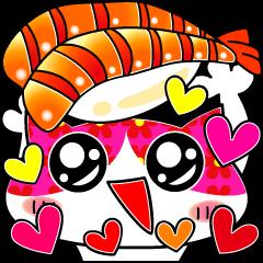 Funny very cute sushi cat