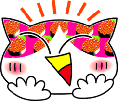 Funny very cute sushi cat sticker #603107