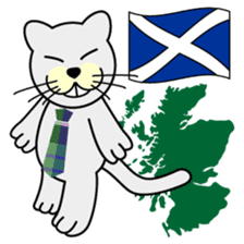 otonaneko in scotland sticker #603411