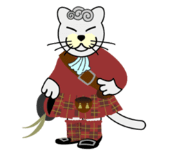 otonaneko in scotland sticker #603426