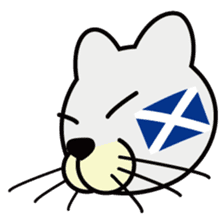 otonaneko in scotland sticker #603439