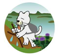 otonaneko in scotland sticker #603440