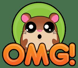 Boola, the happy hamster sticker #603711