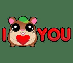 Boola, the happy hamster sticker #603714