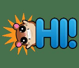 Boola, the happy hamster sticker #603715
