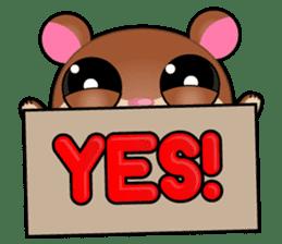 Boola, the happy hamster sticker #603717