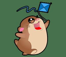 Boola, the happy hamster sticker #603723