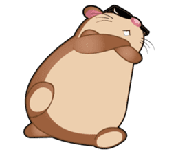 Boola, the happy hamster sticker #603726