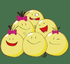 Mr. & Mrs. Yellow 3 sticker #604933