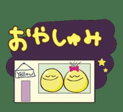 Mr. & Mrs. Yellow 3 sticker #604942