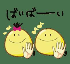 Mr. & Mrs. Yellow 3 sticker #604945