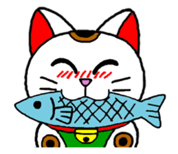 Maneki kun and his friends sticker #605883