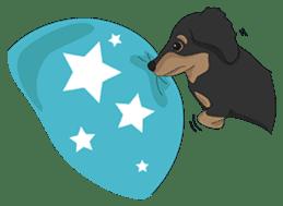 Cute Dachshund Ryu!! sticker #606342