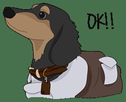 Cute Dachshund Ryu!! sticker #606345