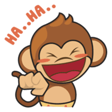Chiki, the cutest monkey alive! sticker #606844