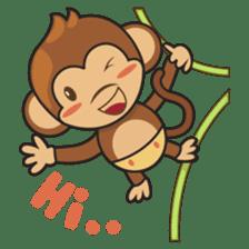 Chiki, the cutest monkey alive! sticker #606845