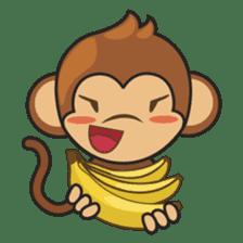 Chiki, the cutest monkey alive! sticker #606849