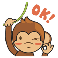 Chiki, the cutest monkey alive! sticker #606851