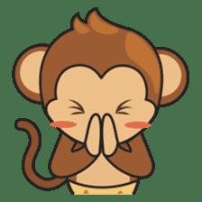 Chiki, the cutest monkey alive! sticker #606856