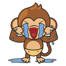 Chiki, the cutest monkey alive! sticker #606858