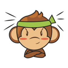 Chiki, the cutest monkey alive! sticker #606863