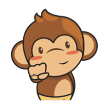 Chiki, the cutest monkey alive! sticker #606870