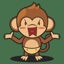 Chiki, the cutest monkey alive! sticker #606881