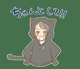 cat parka sticker #607435