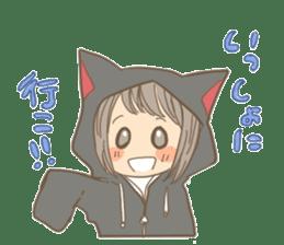 cat parka sticker #607437