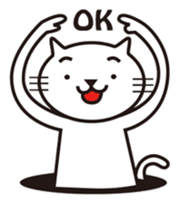 Very white cat sticker #608804