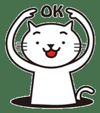 Very white cat sticker #608804
