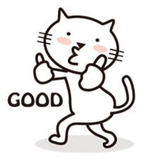 Very white cat sticker #608807