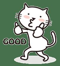 Very white cat sticker #608807