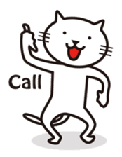 Very white cat sticker #608809