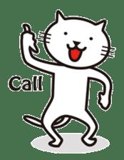 Very white cat sticker #608809