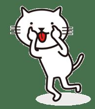 Very white cat sticker #608812