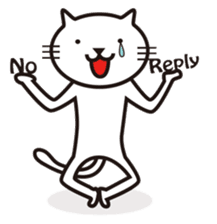 Very white cat sticker #608814