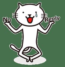 Very white cat sticker #608814