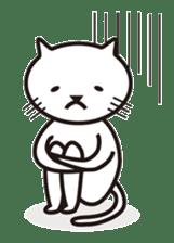 Very white cat sticker #608815