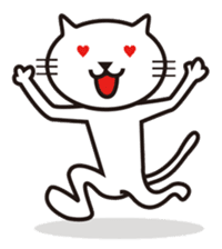 Very white cat sticker #608818