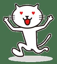 Very white cat sticker #608818