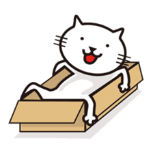 Very white cat sticker #608819