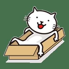 Very white cat sticker #608819