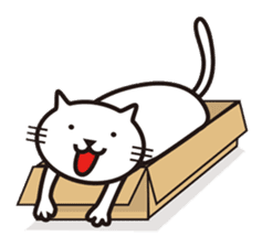 Very white cat sticker #608820