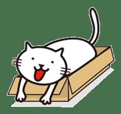 Very white cat sticker #608820
