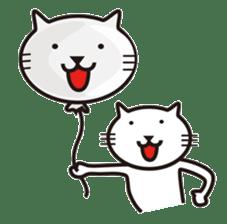 Very white cat sticker #608822